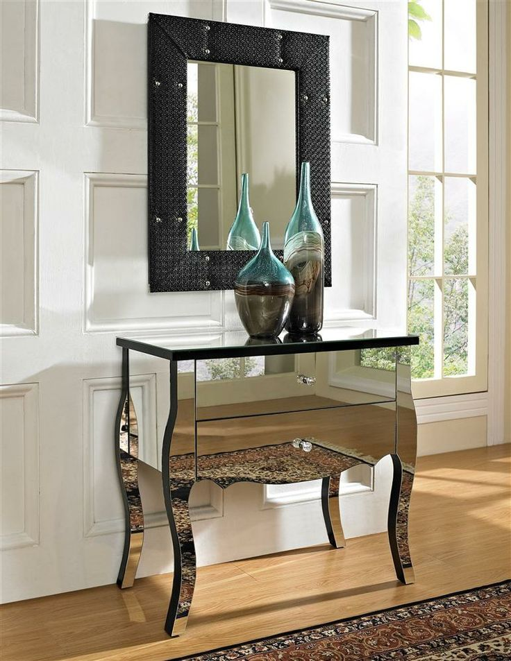 zrkadlový nábytok, zrkadlová komoda, barokový štýl, eklektický štýl
