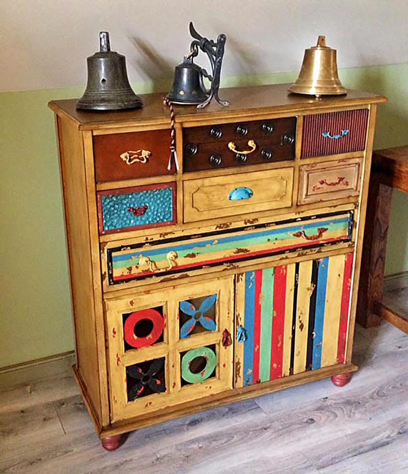 komoda na mieru, nábytok na mieru, komoda s patinami, rustikálna komoda